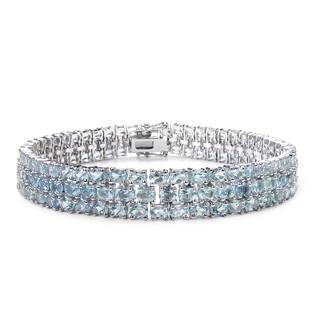 Malaika Sterling Silver 26 1/5ct TGW Blue Topaz Bracelet|https://ak1.ostkcdn.com/images/products/11480626/P18435472.jpg?impolicy=medium