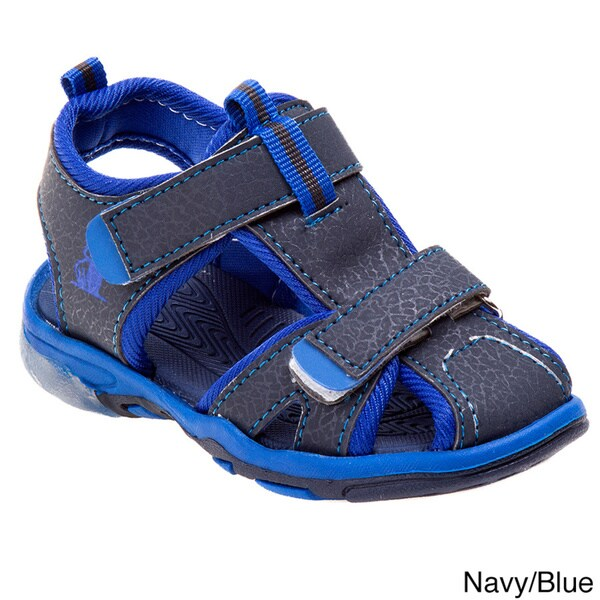 Rugged Bear Boys Sport Sandals 1 Youth Black//Blue