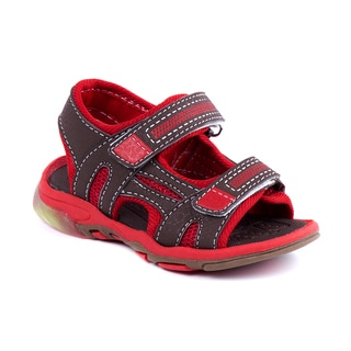Rugged Bear Toddler Boys' Mesh Light-up Sandals