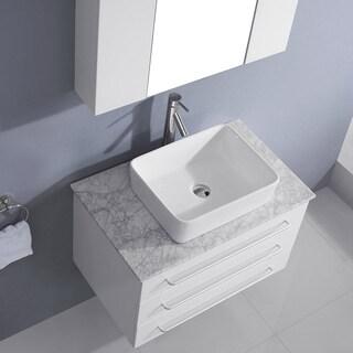 Virtu USA Ivy 32-inch Single Bathroom Vanity Cabinet Set in White