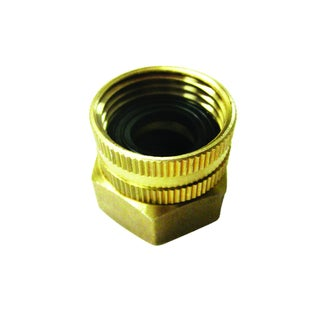 Sun Joe Garden Hose To Pipe End Dual Swivel Brass Connector