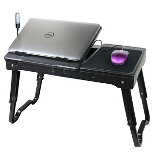 Adjustable Portable Folding All Purpose Serving Tray Desk Breakfast Desk with Tilting Top
