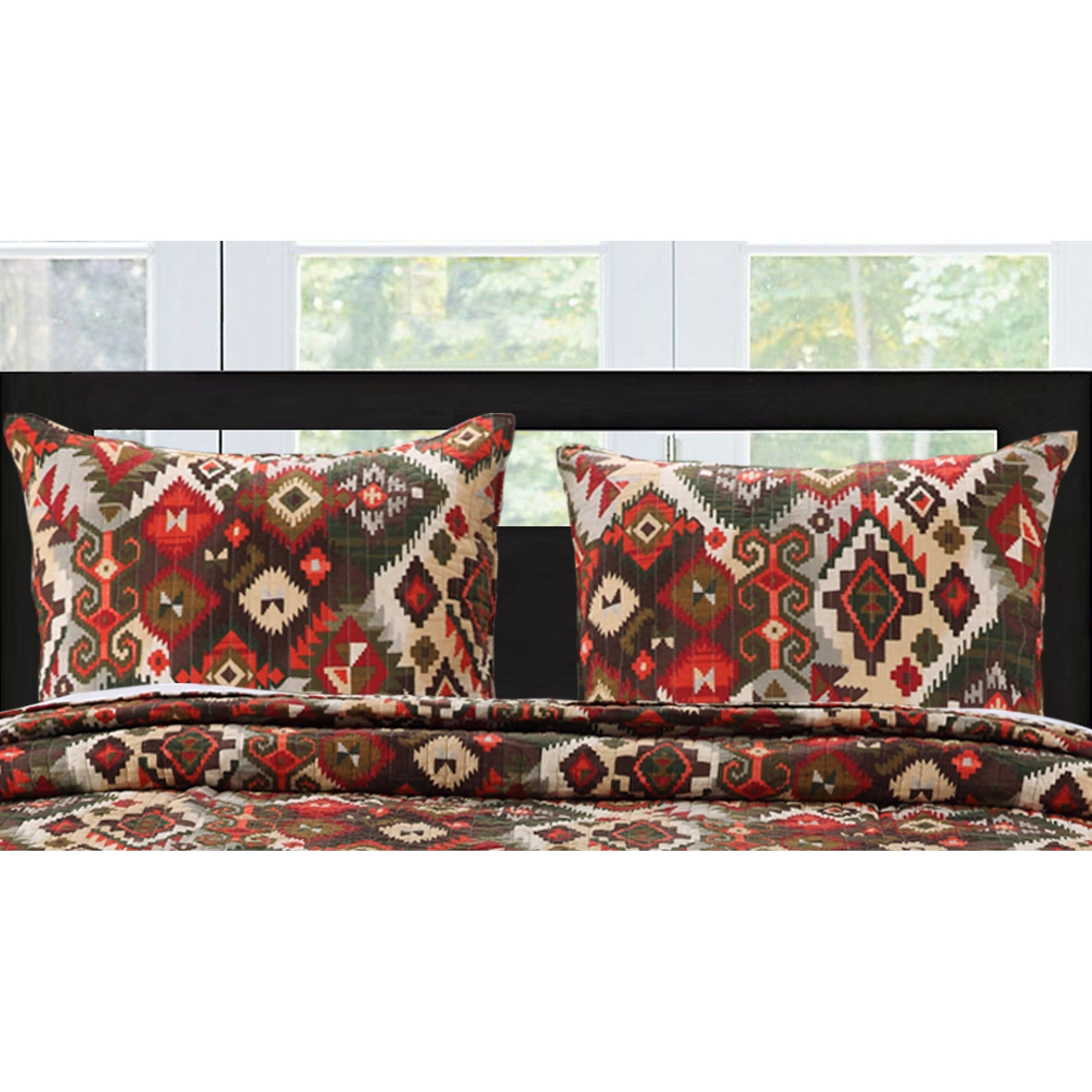 Greenland Trading Folk Festival Pillow Sham Set (King), B...