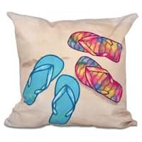 Beach Shoes Geometric Print 26-inch Throw Pillow
