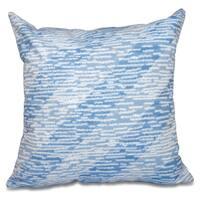 Marled Knit Stripe Geometric Print 26-inch Throw Pillow