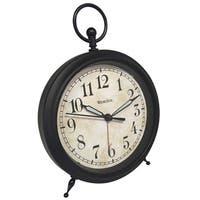 Westclox Decorative O Ring Top Distressed Dial Alarm Clock
