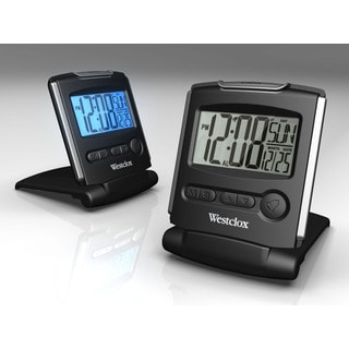 Westclox Light Weight Fold Up Travel Alarm Clock