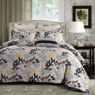 barcelona printed cotton oversize 5piece duvet cover set