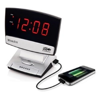 Westclox LED USB Charging Alarm Clock