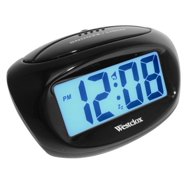 Westclox Easy To Read LCD Large Readout Alarm Clock