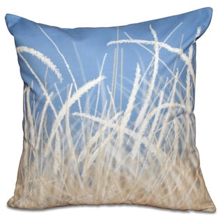 Sea Grass 1 Floral Print 26-inch Throw Pillow