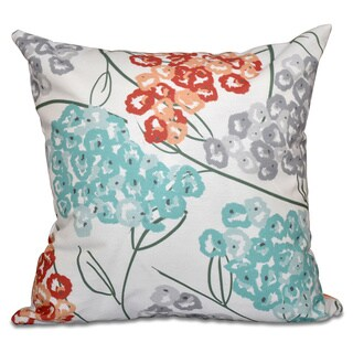 Hydrangeas Floral Print 26-inch Throw Pillow