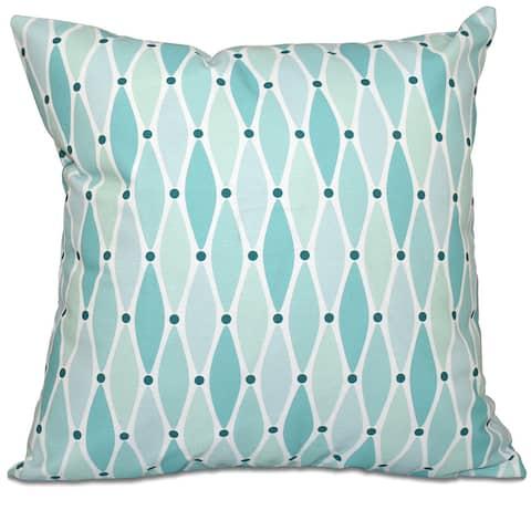 Wavy Geometric Print 26-inch Throw Pillow