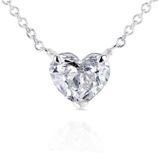 Annello by Kobelli 14k White Gold Floating Heart Certified 3/4ct Diamond Solitaire Necklace|https://ak1.ostkcdn.com/images/products/11482817/P18437282.jpg?impolicy=medium