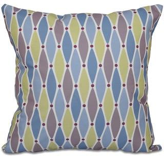 Wavy Splash Geometric Print 26-inch Throw Pillow