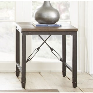 Jarno Industrial End Table  by Greyson Living
