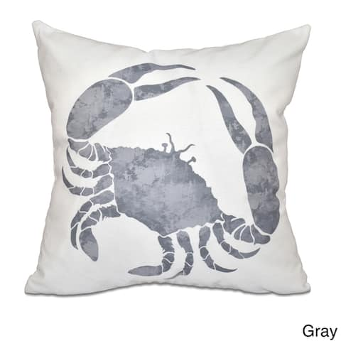 Crab Animal Print 26-inch Throw Pillow
