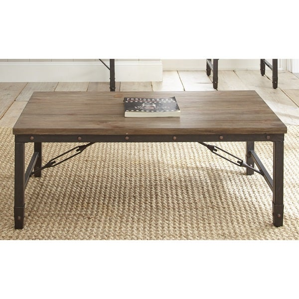 49 Coffee Table Nickel Finish Solid Iron Casters: Greyson Living Jarno Coffee Table