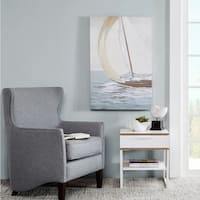 Madison Park Sail Away Hand Embellished Canvas - Blue