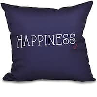 Nautical Happiness Word Print 26-inch Throw Pillow