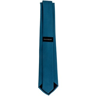 Davidoff 100-percent Silk Teal Grid Neck Tie