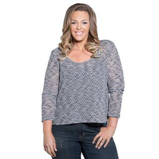 Sealed with a Kiss Women's Plus Size Karen Knit Top