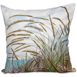 Ocean Breeze Floral Print 20-inch Throw Pillow