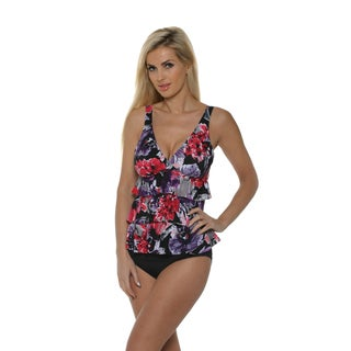 Magicsuit by Miraclesuit Women's Bromance Corynne Tiered Tankini Two-Piece