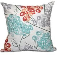 Hydrangeas Floral Print 20-inch Throw Pillow