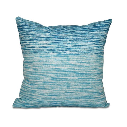 Ocean View Geometric Print 20-inch Throw Pillow