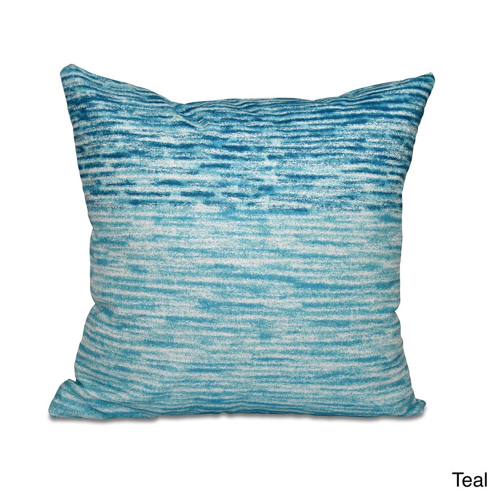 Shop Ocean View Geometric Print 20-inch Throw Pillow - Overstock - 11482966