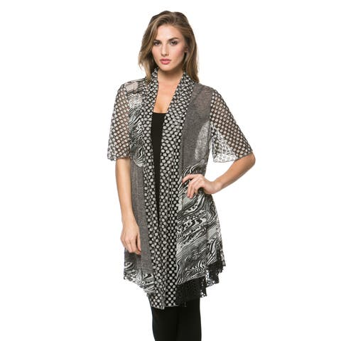 High Secret Women's Multi Fabric Cardigan