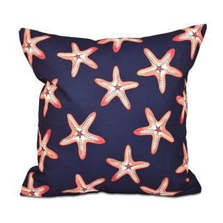 Soft Starfish Geometric Print 20-inch Throw Pillow