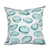 Clams Geometric Print 20-inch Throw Pillow