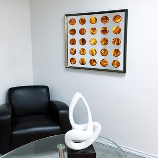 Designart Contemporary Mirror Silver Shade Framed 3D Acrylic Mirror