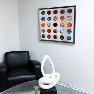 Designart Contemporary Mirror Purple Rose Framed 3D Acrylic Mirror