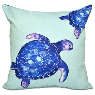 Turtle Tales Animal Print 20-inch Throw Pillow
