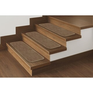 Ottomanson Softy Collection Contemporary Solid Design Stair Tread Rug ('9 x 2'2) (Set of 13) - 9 x 26 (2 options available)