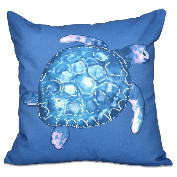 Sea Turtle Animal Print 20-inch Throw Pillow