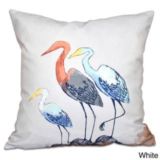 Sunbathers Animal Print 20-inch Throw Pillow (White)