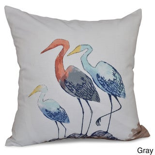 Sunbathers Animal Print 20-inch Throw Pillow (Grey)