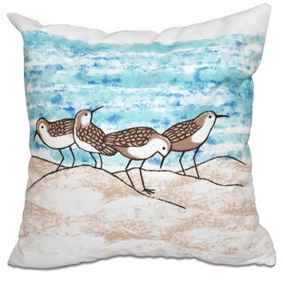Sandpipers Animal Print 20-inch Throw Pillow