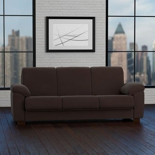 Portfolio Wrangler Convert-a-Couch Brown Pebbles Futon Sleeper Sofa