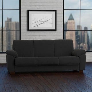 Handy Living Wrangler Convert-a-Couch Black Pebbles Futon Sleeper Sofa