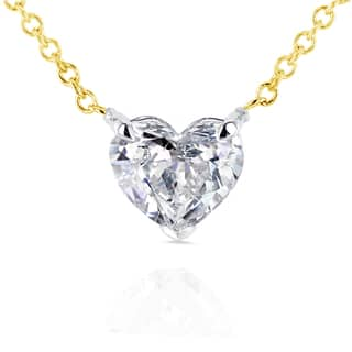 Annello by Kobelli 14k Yellow Gold Floating Heart Certified 3/4ct Diamond Solitaire Necklace|https://ak1.ostkcdn.com/images/products/11483076/P18437511.jpg?impolicy=medium