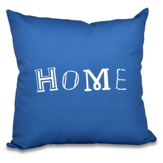 Home Word Print 20-inch Throw Pillow