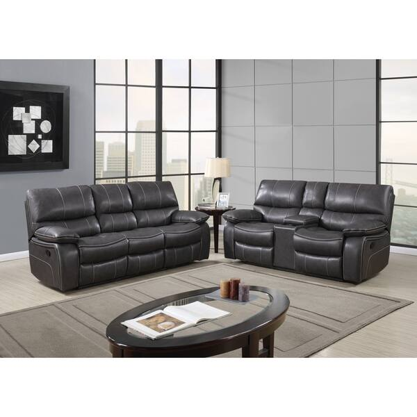 Outstanding Grey Leather Reclining Sofa Ocoug Best Dining Table And Chair Ideas Images Ocougorg