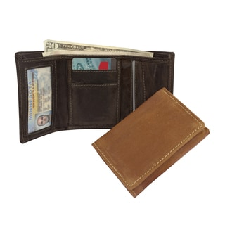 Canyon Outback Walnut Grove RFID Security Blocking Leather Tri-Fold Wallet