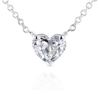 Annello by Kobelli 14k White Gold Floating Heart Certified 1/2ct Diamond Solitaire Necklace|https://ak1.ostkcdn.com/images/products/11483114/P18437548.jpg?impolicy=medium