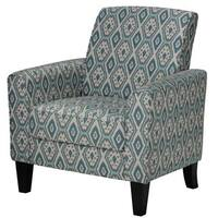 Cortesi Home Tali Blue Diamond Arm Accent Chair